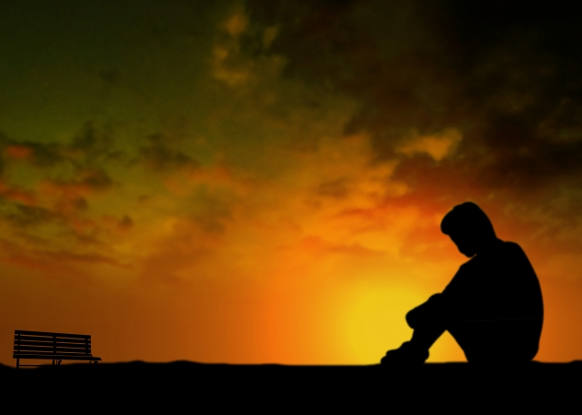 孤独な人の写真