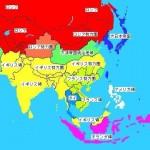戦前のアジア地図