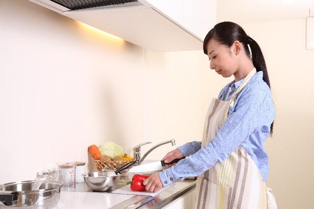 お金稼ぎと調理の写真
