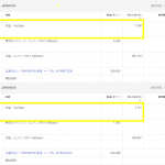 YouTubeAdSense6月と7月実績画像