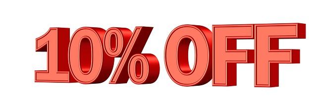 10%オフで買い物する